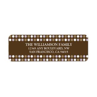 Chocolate Polkadots Return Address Labels (purple)