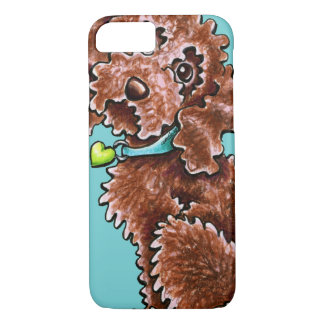 Chocolate Poodle Mix Side Sit iPhone 7 Case