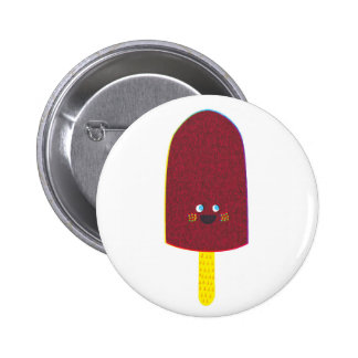 Chocolate Popsicle Badge Pinback Button