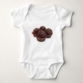 Chocolate Pralines Isolated on White Baby Bodysuit
