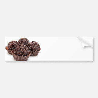 Chocolate Pralines Isolated on White Bumper Sticker