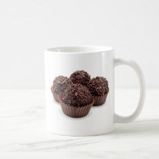 Chocolate Pralines Isolated on White Coffee Mug