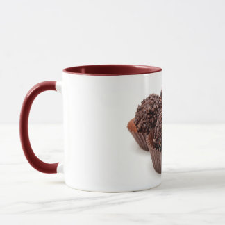 Chocolate Pralines Isolated on White Mug