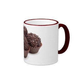 Chocolate Pralines Isolated on White Ringer Coffee Mug
