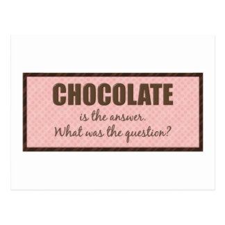 Chocolate Question Postcard