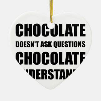 Chocolate Questions Understands Ceramic Ornament