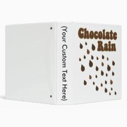 Chocolate Rain Inundation 3 Ring Binder