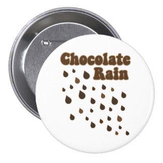 Chocolate Rain Inundation 3 Inch Round Button