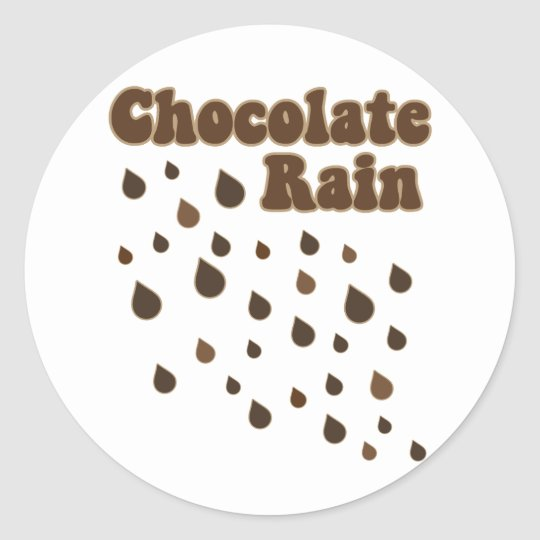 Chocolate Rain Inundation Classic Round Sticker