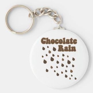 Chocolate Rain Inundation Basic Round Button Keychain