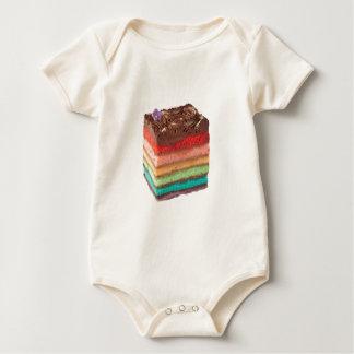 Chocolate Rainbow cake Baby Bodysuit