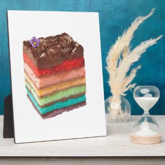 Chocolate Rainbow cake Plaque