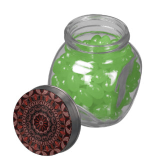 Chocolate, Raspberries, Peppermint Stick Abstract Jelly Belly Candy Jars