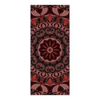 Chocolate, Raspberries, Peppermint Stick Abstract Card