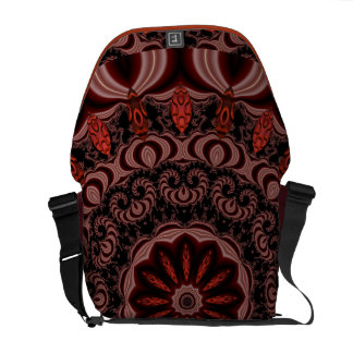 Chocolate, Raspberries, Peppermint Stick Abstract Courier Bag
