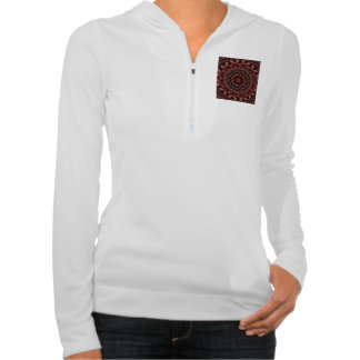 Chocolate, Raspberries, Peppermint Stick Abstract Hoodie
