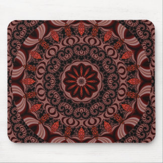 Chocolate, Raspberries, Peppermint Stick Abstract Mouse Pad