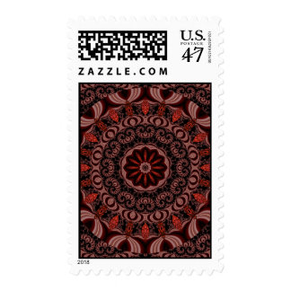 Chocolate, Raspberries, Peppermint Stick Abstract Postage
