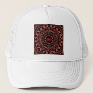 Chocolate, Raspberries, Peppermint Stick Abstract Trucker Hat