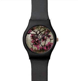 Chocolate Raspberry Blossoms Watch