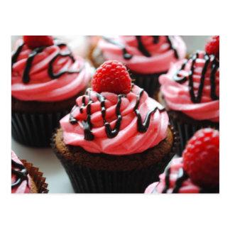 Chocolate Raspberry Cupcake Post Card