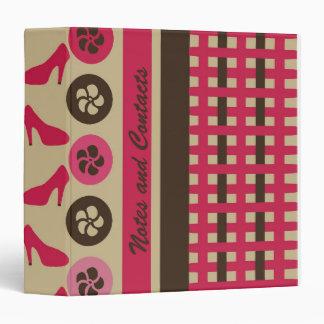 Chocolate Raspberry Flirty AVERY Binder