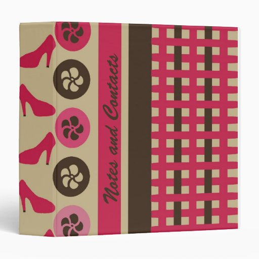 Chocolate Raspberry Flirty AVERY Binder