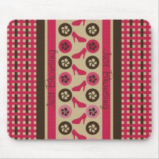 Chocolate Raspberry Flirty Just Browsing Mousepad