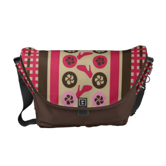Chocolate Raspberry Flirty Messenger Bag