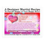 Chocolate Raspberry Valentine Martini Postcard