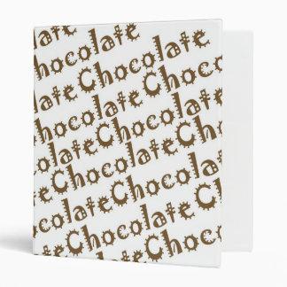 Chocolate Recipe Binder