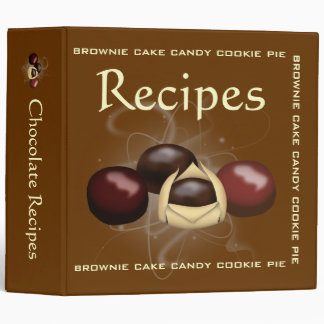 Chocolate Recipes Binder