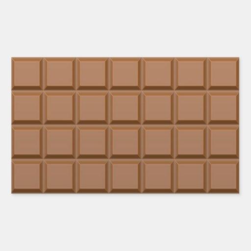 Chocolate Rectangular Stickers
