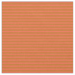 [ Thumbnail: Chocolate & Red Stripes/Lines Pattern Fabric ]