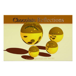 Chocolate Reflections print