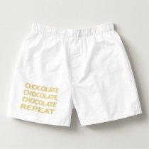 Chocolate repeat - strips - beige. boxers