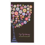 Chocolate Retro Circle Tree Online Store Card