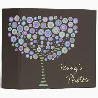 Chocolate Retro Trees Name Custom Photo Album Binders