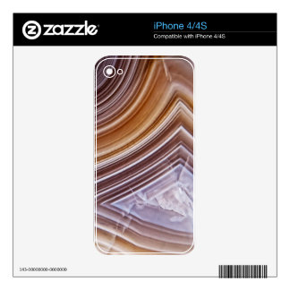Chocolate Ribbons Agate Decal For The iPhone 4S