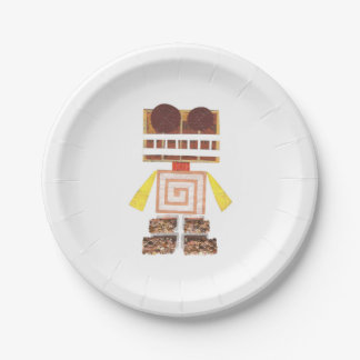 Chocolate Robot Paper Plate