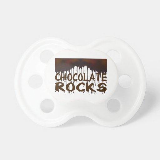 Chocolate Rocks BooginHead Pacifier