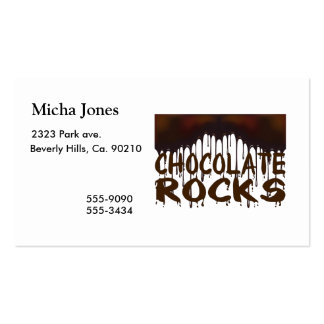 Chocolate Rocks Double-Sided Standard Business Cards (Pack Of 100)