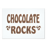 CHOCOLATE ROCKS PERSONALIZED INVITES