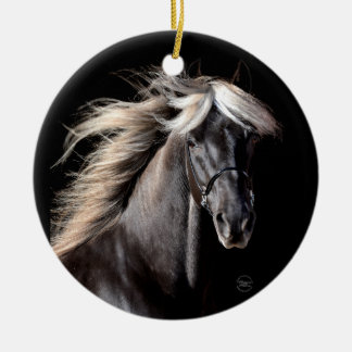 Chocolate Rocky Mountain Horse Ceramic Ornament