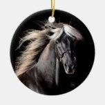 Chocolate Rocky Mountain Horse Christmas Ornament