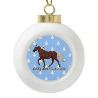 Chocolate Rocky Mountain Horse Christmas Trees Ornament