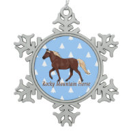 Chocolate Rocky Mountain Horse Christmas Trees Ornaments