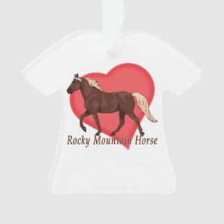 Chocolate Rocky Mountain Horse Heart Ornament