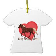 Chocolate Rocky Mountain Horse Heart Christmas Ornaments