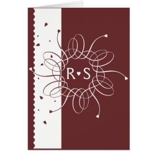 Chocolate Romantic Rosette Wedding Invitation